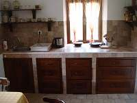 kuchyně - chalupa ubytování Slavkov