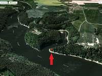 rybářská chata na Orlíku - 3D pohled - k pronájmu Chřešťovice