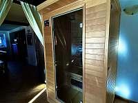 Nově zabudovaná sauna - pronájem chalupy Strážný-Hliniště