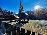 Výhled s terasy - chalupa ubytování Strážný-Hliniště