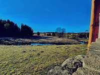 Výhled z terasy - chalupa k pronajmutí Strážný-Hliniště