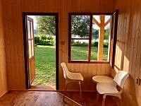 Výhled z domku - pronájem chalupy Kvítkovice