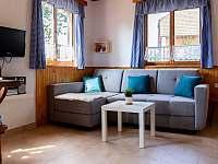 Obývák s kuchyňským koutem/rozkládací sedačka
