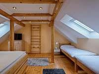 Apartmán Deluxe - horní ložnice - Jindřichův Hradec