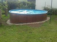 bazén - chalupa ubytování Palupín