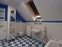 Apartmán v podkroví - Koupelna 1 - pronájem chalupy Lásenice