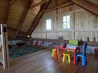 Dětstký koutek ve stodole - chalupa k pronajmutí Zvůle