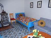 Obývací pokoj - pronájem chalupy Stříbřec