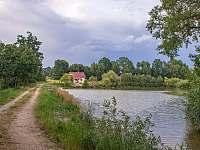 Chaty na rybníku Slávek - k pronajmutí Lžín