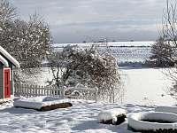 Chaty na rybníku Slávek- zima - Lžín