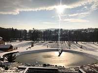 Rybník v zimě - pronájem chalupy Varvažov