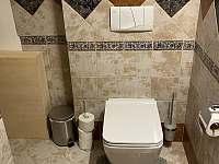 WC v přízemí - pronájem chalupy Varvažov