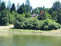 100 m od vody - pronájem chaty Podolsko