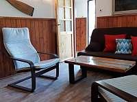 Obývák - chata ubytování Podolsko
