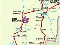 cyklostezka Greenway Rožmberského dědictví - chalupa k pronájmu Klec u Třeboně