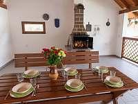Venkovní pergola - chalupa ubytování Klec u Třeboně