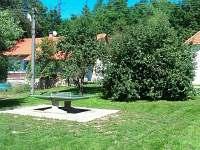stůl na stolní tenis - chalupa k pronájmu Hutě u Bechyně