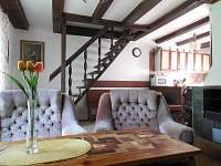 Obývák a kuchyň - chata ubytování Týn nad Vltavou