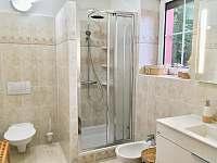 Koupelna - apartmán v přízemí - vila k pronajmutí Třeboň