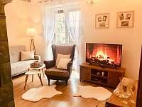 Obývací pokoj apartmán v přízemí - vila ubytování Třeboň