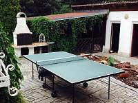 Pimpongový stůl na terase