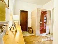 Sauna v přízemí vilky - vila k pronájmu Třeboň