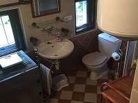 Koupelna - pronájem chalupy Pohorská Ves