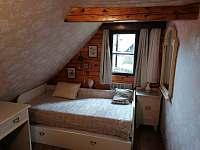 Nový pokoj v podkroví s jednou postelí a jednou přistýlkou - Pohorská Ves
