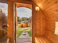 Sauna a horký sud - chalupa k pronájmu Kardašova Řečice