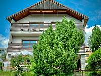 pohled z jihu - vila ubytování Český Krumlov