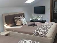 Ložnice pro 4 osoby s TV - podkroví domu - Třeboň