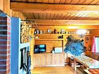 Obývák - pronájem chaty Křída u Stádlce