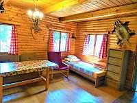 Obývák - chata ubytování Křída u Stádlce