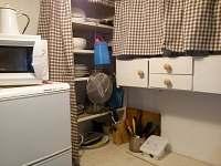 kuchyně - chata k pronajmutí Hutě u Bechyně