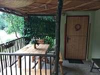 veranda - chata k pronájmu Hutě u Bechyně