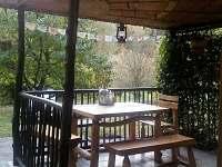 Veranda - chata k pronajmutí Hutě u Bechyně