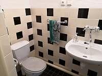 Koupelna s toaletou - chalupa k pronájmu Velký Pěčín
