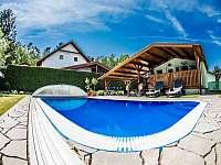 Vyhřívaný venkovní bazén - chata k pronájmu Roudná u Soběslavi