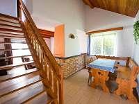 Jídelna s obývacím pokojem - chata k pronajmutí Nuzice u Bechyně