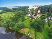 Letecký pohled na rekreační lokalitu