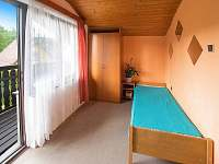 Ložnice s balkónem - chata ubytování Nuzice u Bechyně