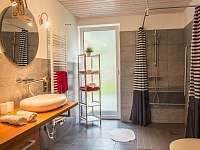koupelna bez bariér - apartmán k pronajmutí Jindřichův Hradec - Rodvínov