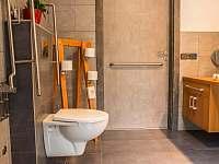 WC bez bariér - pronájem apartmánu Jindřichův Hradec - Rodvínov