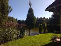 Pohled na rybník - chata k pronajmutí Kunějov