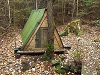 Přírodní studánka nedaleko chaty - Kunějov