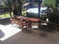 venkovní terasa - chalupa ubytování Prachatice