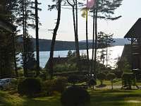 výhled k jezeru - chata ubytování Lojzovy Paseky