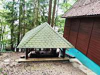 Zastřešená terasa - chata k pronájmu Malý Ratmírov