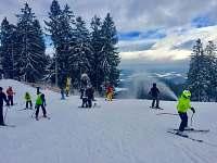 Skiaereál Lipno nabízí 11 km sjezdovek - chata ubytování Lipno nad Vltavou