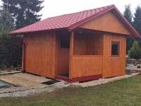Finská sauna se nachází v objektu - pronájem chaty Soběslav - Švadlačky